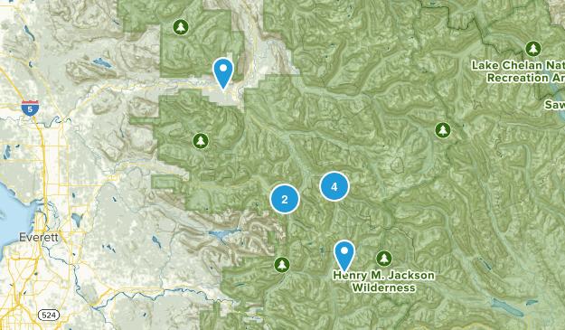 Darrington, Washington Backpacking Map