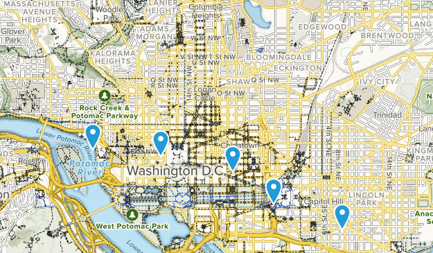 Washington, District of Columbia Wheelchair Friendly Map