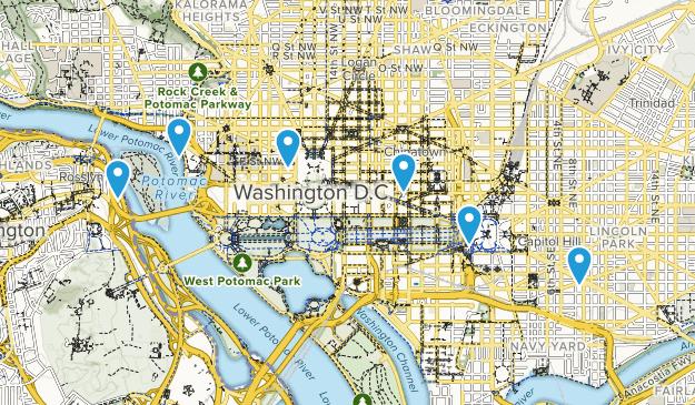 Washington, District of Columbia Wheelchair Friendly Map