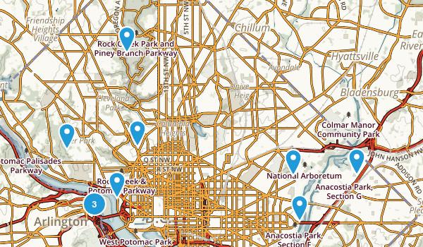 Washington, District of Columbia Birding Map