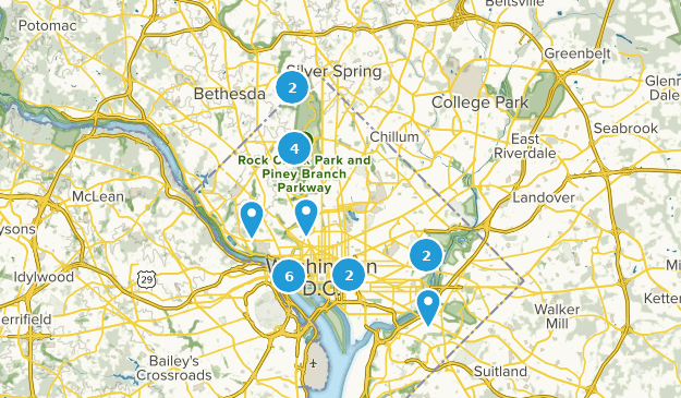 Washington, District of Columbia Trail Running Map