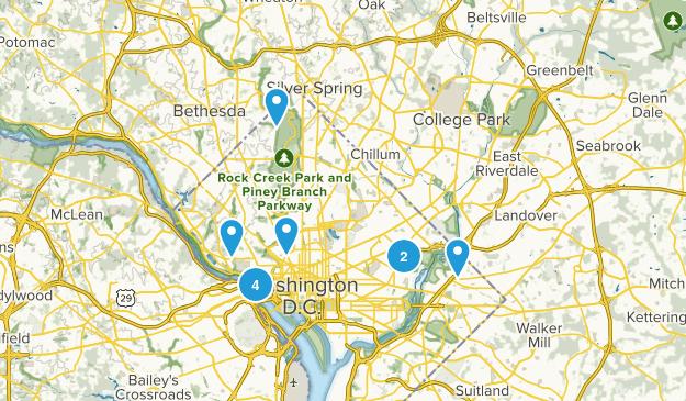 Washington, District of Columbia Wild Flowers Map