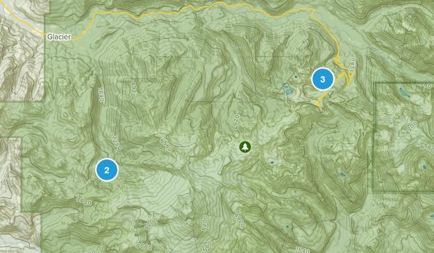 Deming, Washington Skiing Map