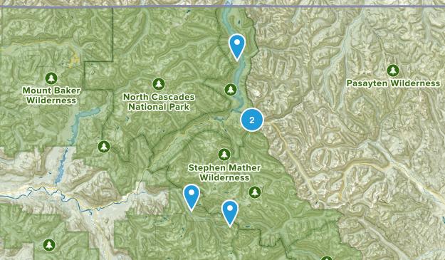 Diablo, Washington Camping Map