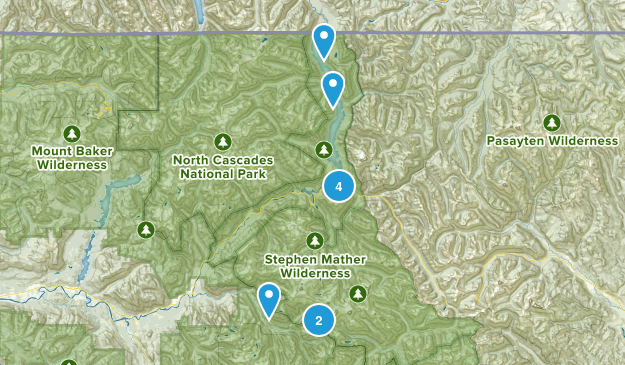 Diablo, Washington Hiking Map