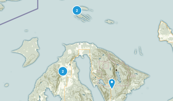 Eastsound, Washington Nature Trips Map