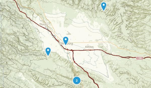 Ellensburg, Washington Walking Map