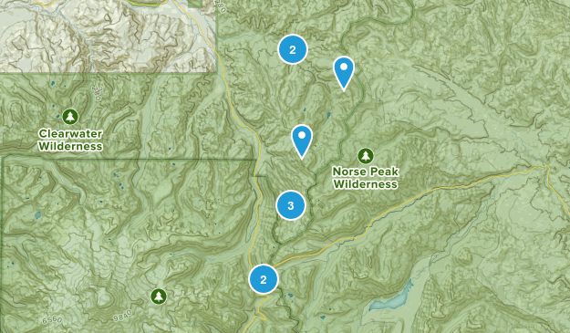 Enumclaw, Washington Horseback Riding Map