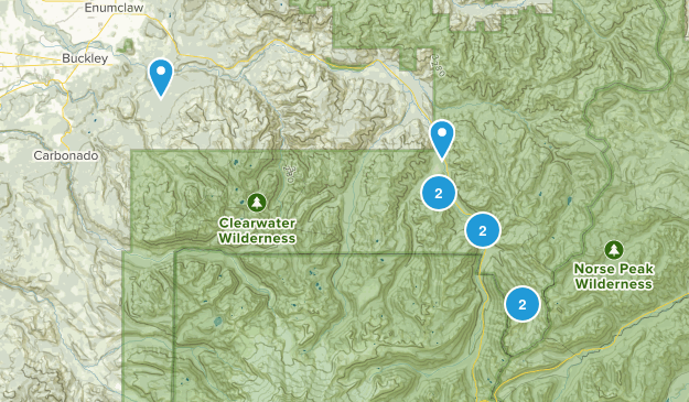 Enumclaw, Washington Mountain Biking Map