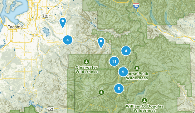 Enumclaw, Washington Views Map