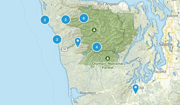 Forks, Washington Camping Map