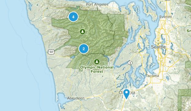 Forks, Washington Lake Map