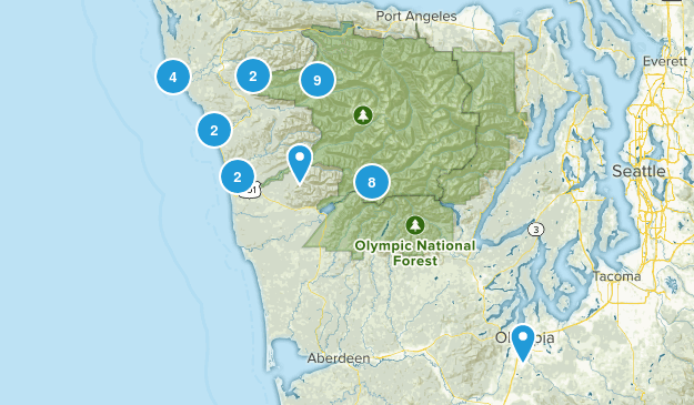 Forks, Washington Nature Trips Map