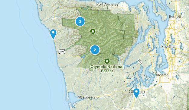 Forks, Washington Waterfall Map