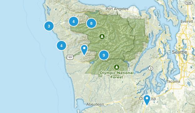 Forks, Washington Wild Flowers Map