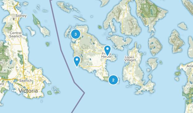 Friday Harbor, Washington Hiking Map