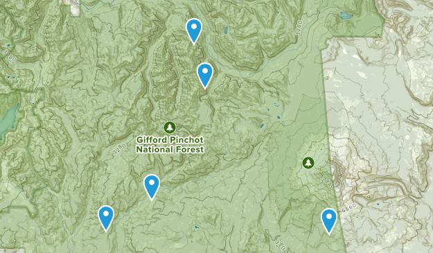 Gifford Pinchot, Washington Nature Trips Map