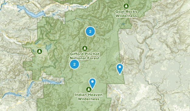 Gifford Pinchot, Washington Walking Map