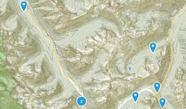 Gilbert, Washington Hiking Map