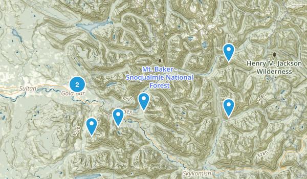 Gold Bar, Washington Dogs On Leash Map