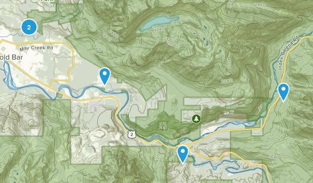 Gold Bar, Washington Nature Trips Map