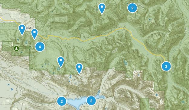 Granite Falls, Washington Lake Map
