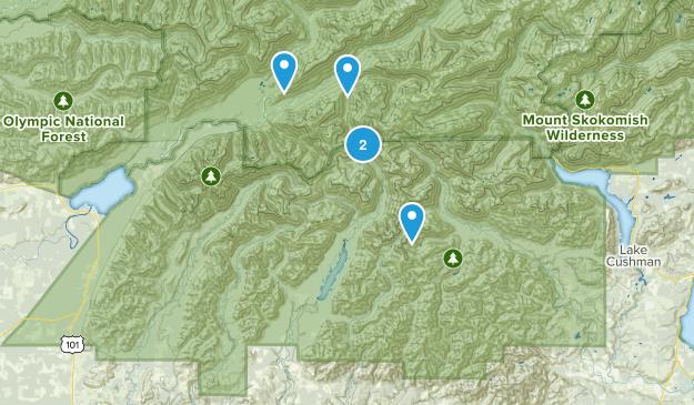 Grisdale, Washington Hiking Map