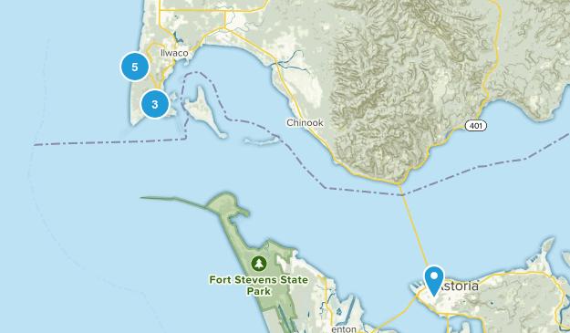 Ilwaco, Washington Dogs On Leash Map