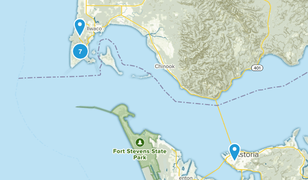 Ilwaco, Washington Nature Trips Map