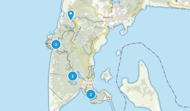 Ilwaco, Washington Walking Map