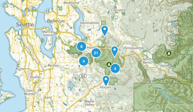 Issaquah, Washington Dogs On Leash Map