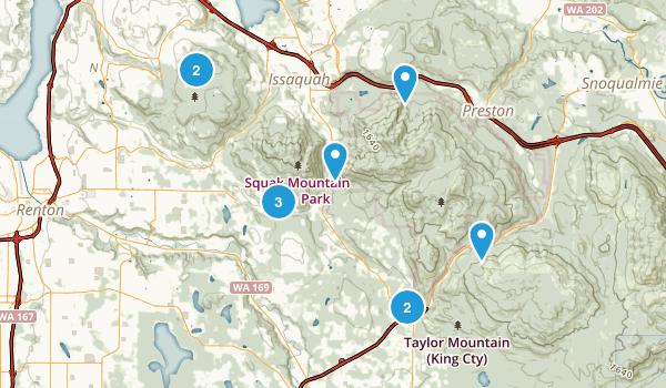 Issaquah, Washington Horseback Riding Map