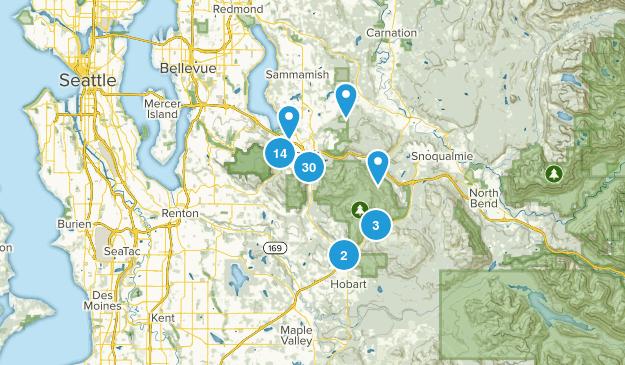 Issaquah, Washington Walking Map