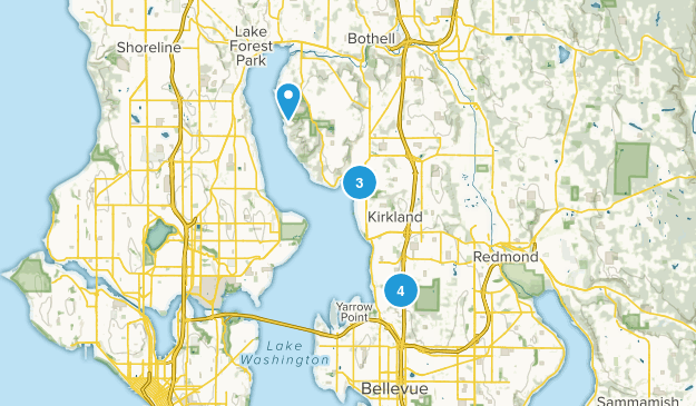 Kirkland, Washington Wildlife Map