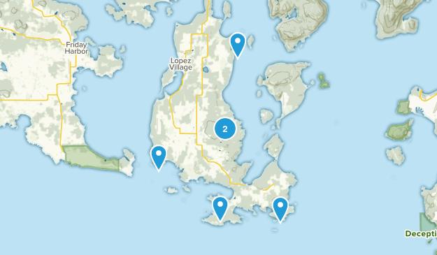 Lopez Island, Washington Hiking Map