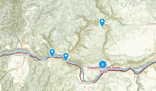 Lyle, Washington Trail Running Map