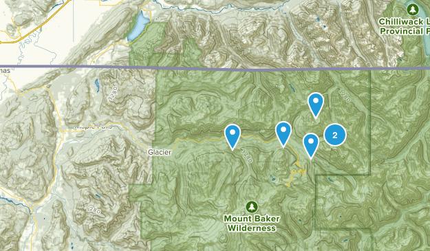 Maple Falls, Washington Backpacking Map