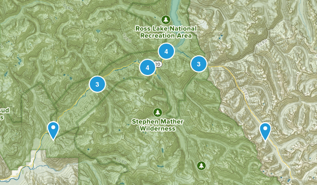 Marblemount, Washington Dogs On Leash Map