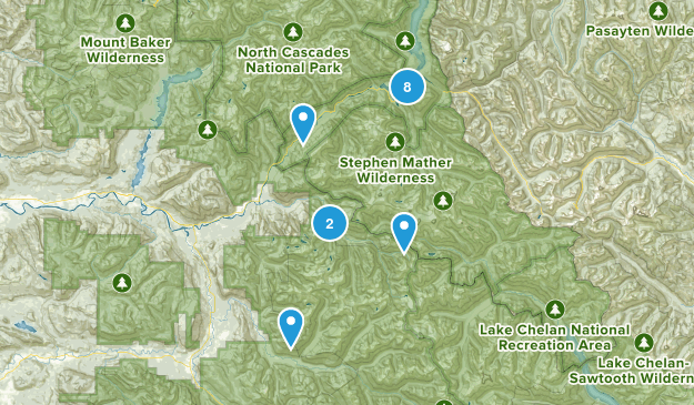 Marblemount, Washington Lake Map