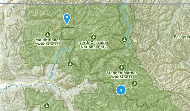 Marblemount, Washington Rock Climbing Map