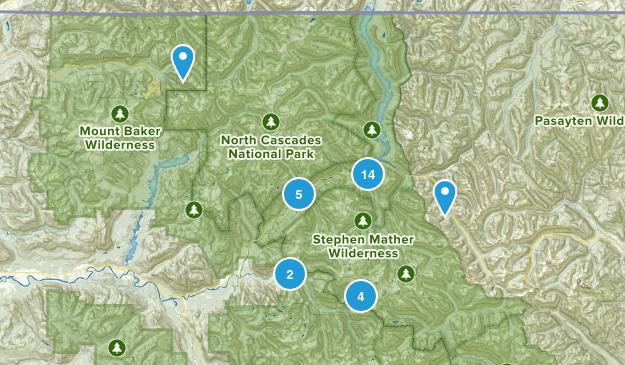 Marblemount, Washington Wild Flowers Map