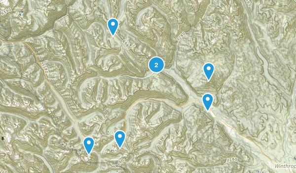 Mazama, Washington Dogs On Leash Map