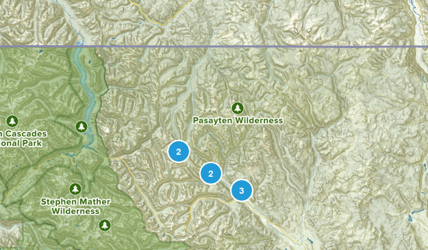 Mazama, Washington Hiking Map