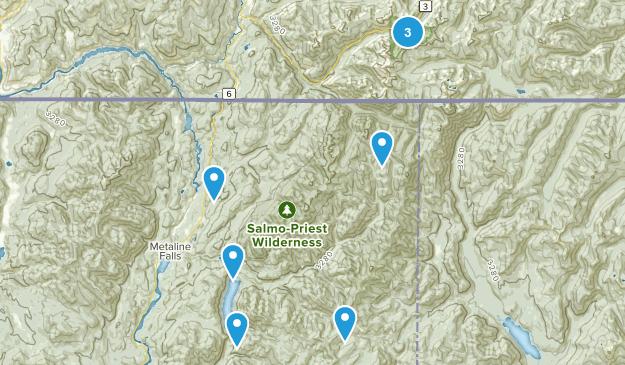 Metaline Falls, Washington Dogs On Leash Map