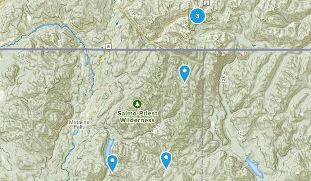 Metaline Falls, Washington Nature Trips Map