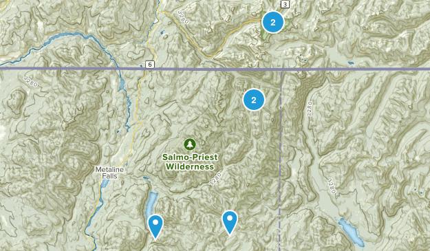 Metaline Falls, Washington Wild Flowers Map