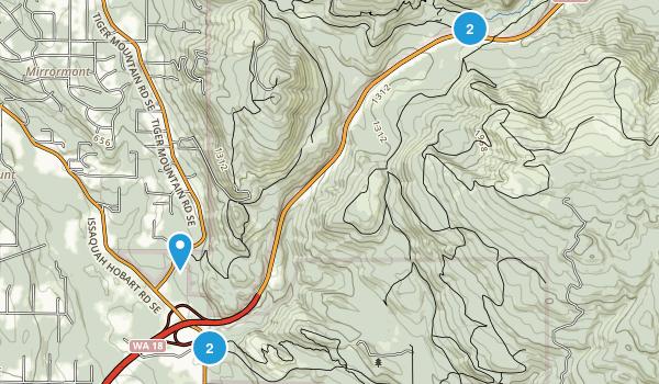 Mirrormont, Washington Hiking Map