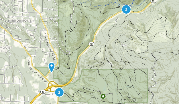 Mirrormont, Washington Hiking Map