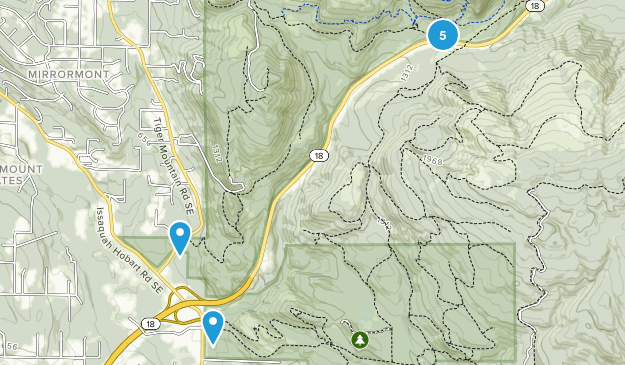 Mirrormont, Washington Nature Trips Map