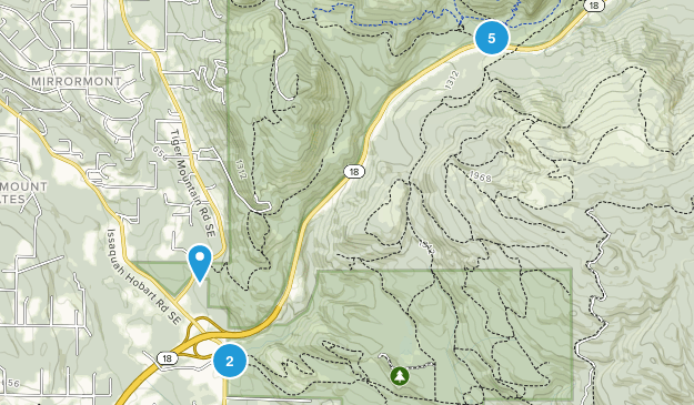 Mirrormont, Washington Views Map